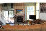 Mammoth Lakes Rental Wildflower 2 - Open Area Living Room with one sofa sleeper