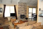 Mammoth Lakes Rental Sunshine Village 106 - Open Floor Plan Towards Dining Area and Kitchen