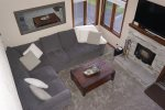 Mammoth Lakes Condo Rental Sunrise 1 - Living Room from the Entrance.