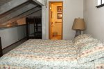 Mammoth Lakes Vacation Rental Sunshine Village 166 - Loft has 1 Queen Bed and 1 set of Bunk Beds and a Bathroom