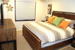 Mammoth Condo Rental Wildflower 41: Master Bedroom Has a King Size Bed With A Firm Tempurpedic Mattress.