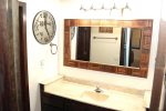 Mammoth Condo Rental Wildflower 41- Separate Vanity Area From Shower Allows For More Privacy.
