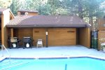 Mammoth Condo Rental Wildflower 41- Common Area Heated Pool Summer Time Only, BBQ`s and Private Bathrooms With Showers