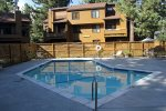 Mammoth Condo Rental Wildflower 41- Common Area Heated Pool Summer Time Only