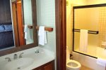 Mammoth Condo Rental Mountainback 19- Master Bedroom Flat Screen TV, Large Windows, Private Bath