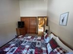 Mammoth Condo Rental Mountainback 19- Master Bedroom TV and Private Bathroom