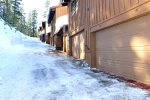 Mammoth Condo Rental Timber Ridge 19- Steep Driveway in front of the condo
