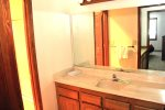 Mammoth Condo Rental Sunrise 16 -  Bathroom with Separate Shower and Sink Areas