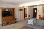 Mammoth Condo Rental Sunrise 16 - Open Living Room with  1 Queen Sofa Bed