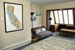 Mammoth Condo Rental Wildrose 9: Large second bedroom with futon and sunroom