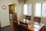 Mammoth Condo Rental Wildrose 9: Nice dining room with large windows and access to the kitchen
