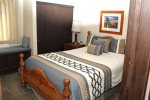 Mammoth Condo Rental Crestview 29: Comfortable Queen Size Bed in the Master Bedroom