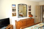 Mammoth Vacation Rental Sunrise 12 - Master Bedroom has a Flat Screen TV and Large Dresser for Storage