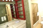 Mammoth Lakes Vacation Rental Sunrise 12- Spacious Bathroom with Seperate Sink Area