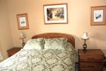 Mammoth Lakes Condo Rental Sunrise 15 - Master Bedroom Queen Bed and 1 Twin Roll-A-Way