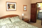 Mammoth Lakes Condo Rental Sunrise 15- Queen Bed and Walk-in Closet with a Twin Roll-Away