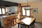 Mammoth Lakes Rental Sunrise 15 - Dining Room Seats 6 plus seating at the Kitchen Bar