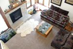Mammoth Condo Rental Sunrise 29 - Overhead Living Room View from the Loft