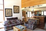 Mammoth Lakes Rental Sunrise 29 - Open Concept Area - Living Room, Dining Room and Kitchen