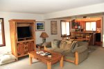 Mammoth Lakes Rental Sunrise 32 - Living Room, Dining Area and