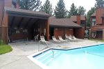 Sunrise Common Area Year Pool Area with Seasonal Pool, Year Around Spa, Sauna and BBQs