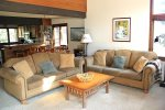 Mammoth Lakes Condo Rental Sunrise 35 - Living Room has Queen Foldout Couch