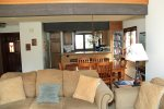 Mammoth Lakes Rental Sunrise 35 - Open Floor Plan Living Room, Dining Room, Kitchen