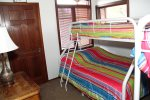 Mammoth Vacation Rental Sunrise 37- Loft Bunk Bed with a Full Bed on the Bottom