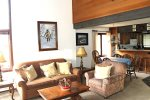 Mammoth Vacation Rental Sunrise 37- Open Floor Plan Living Room, Dining Room, Kitchen