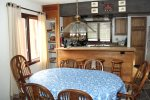 Mammoth Vacation Rental Sunrise 37- Dining Room Open to the Kitchen