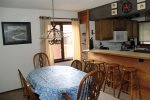 Mammoth Vacation Rental Sunrise 37-  Dining Room Table Seats 6 and more at the Bar