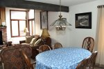Mammoth Vacation Rental Sunrise 37- Dining Room Open to the Living Room