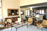 Mammoth Condo Rental Sunrise 43 -Spacious Open Floor Plan Living Room, Dining Room and Kitchen