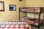 Mammoth Condo Rental Sunrise 43- Loft has a Queen Size Bed and a Bunk Bed Set
