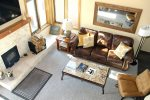 Mammoth Lakes Condo Rental Sunrise 43 - View of Living Room from the Loft