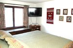 Mammoth Lakes Rental Sunrise 46 - Master Bedroom has a flat screen TV