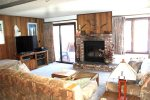 Mammoth Lakes Condo Rental Sunrise 46 - Living Room has a Flat Screen TV
