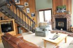 Mammoth Lakes Rental Sunrise 47 - Comfortable Living Room, Stairs to the Loft