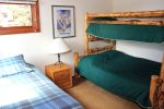 Mammoth Lakes Vacation Rental Sunrise 51 - Loft with a Twin Bed and a Bunk Bed with a Full and a Twin