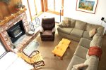 Mammoth Lakes Condo Rental Sunrise 51 - Living Room with Queen Sofa Sleeper