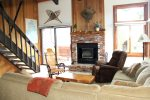 Mammoth Lakes Condo Rental Sunrise 51 - Living Room with Outside Deck Access