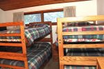 Mammoth Condo Rental Woodlands 30- Loft has 2 Bunk Bed Sets