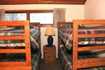 Mammoth Condo Rental Woodlands 30- Loft has plenty of sleeping space with 2 bunk bed sets