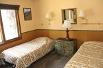 Mammoth Rental Woodlands 48- Second Bedroom with Two Twin Beds