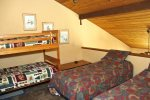 Mammoth Rental Woodlands 48- Loft has One Bunkbed and Two Twin Beds