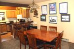 Mammoth Vacation Rental Woodlands 48 - Dining Table Seats six and Bar