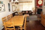 Mammoth Lakes Rental Woodlands 28 - Dining Area Seats 8 and Living Room