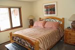 Mammoth Lakes Vacation Rental Woodlands 31 - Master Bedroom with a Queen Bed