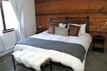 Mammoth Lakes Vacation Rental Snowflower 5 - Master Bedroom Walk in Closet, Private Bath and Large Flat Screen TV