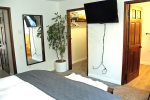Mammoth Vacation Rental Snowflower 5 - 2nd Bedroom has a Large Flat Screen TV